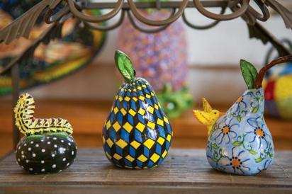 Ceramic pears by artist Katherine Gullo
