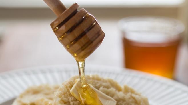Breakfast with honey from Panama Bee Farm